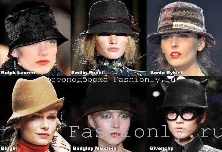 Модные шапки 2012 из трикотажа.