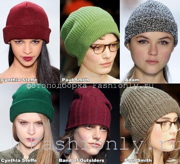 Модные вязаные шапки 2012 фото