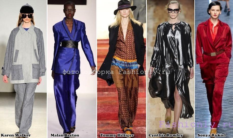 Модная одежда осень 2011 - одежда в пижамном стиле