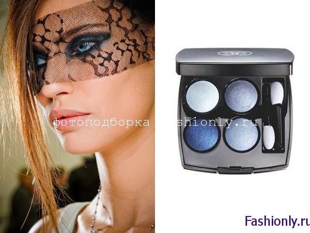 Синий макияж от Chanel