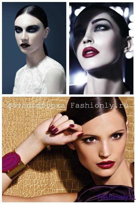 Новогодний макияж 2012 в стиле вамп