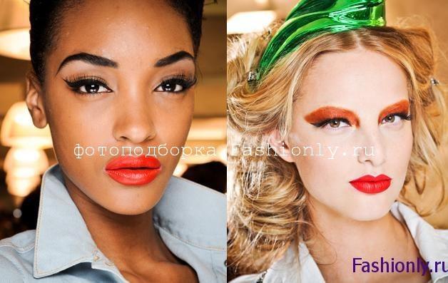 Новогодний макияж 2012 - губы