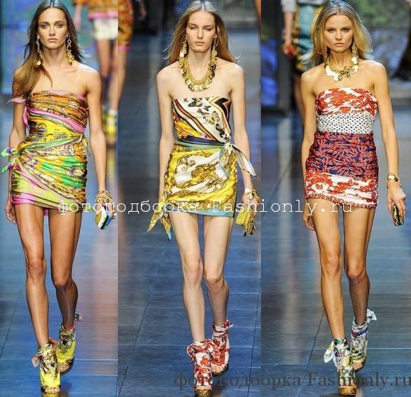 Шелковые Мини платья D&G