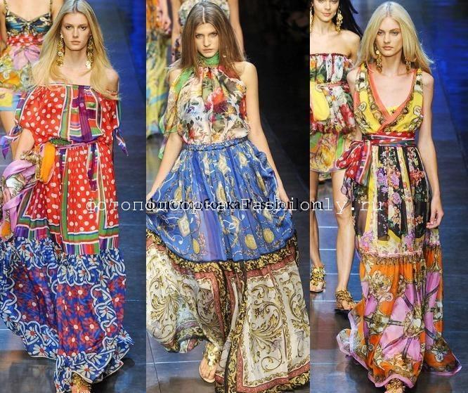 Цыганские платья от D&G - весна лето 2012
