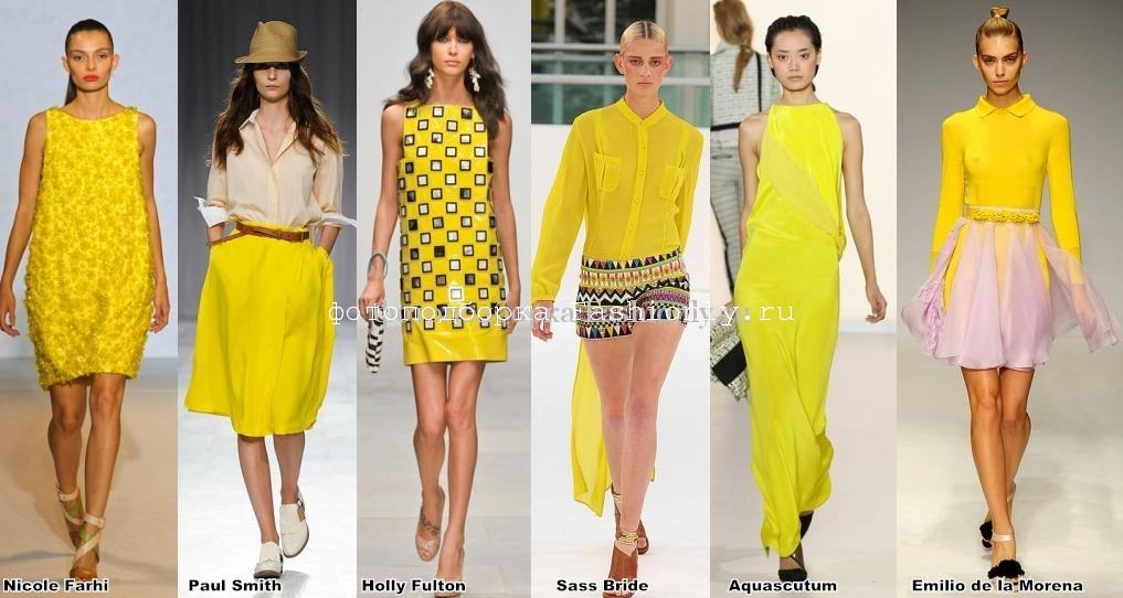 Цветовые лондонские модные тенденции весны 2012 года