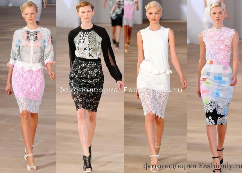 Кружевные юбки от Preen - весна лето 2012
