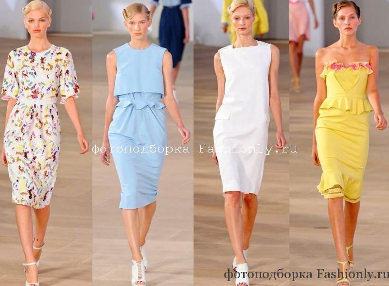 Летние платья с подиума