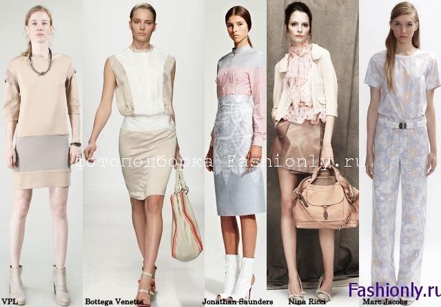 Пастельная мода весна лето 2012 года
