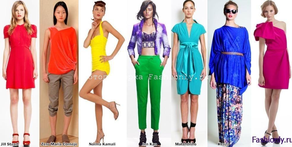 Весна 2012 мода всех цветов радуги