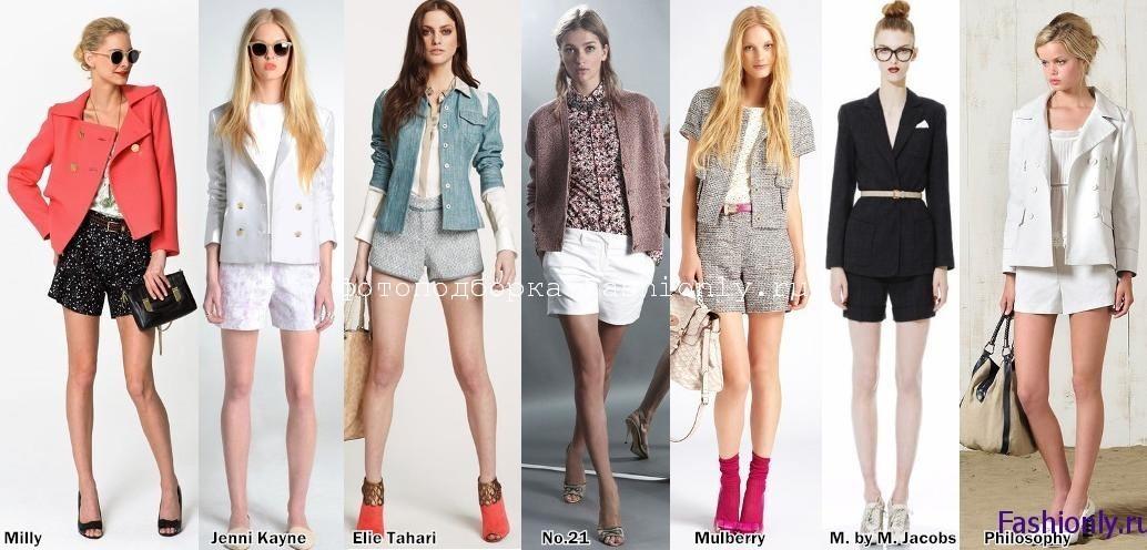 Модная одежда весны 2012 - жакеты с шортами