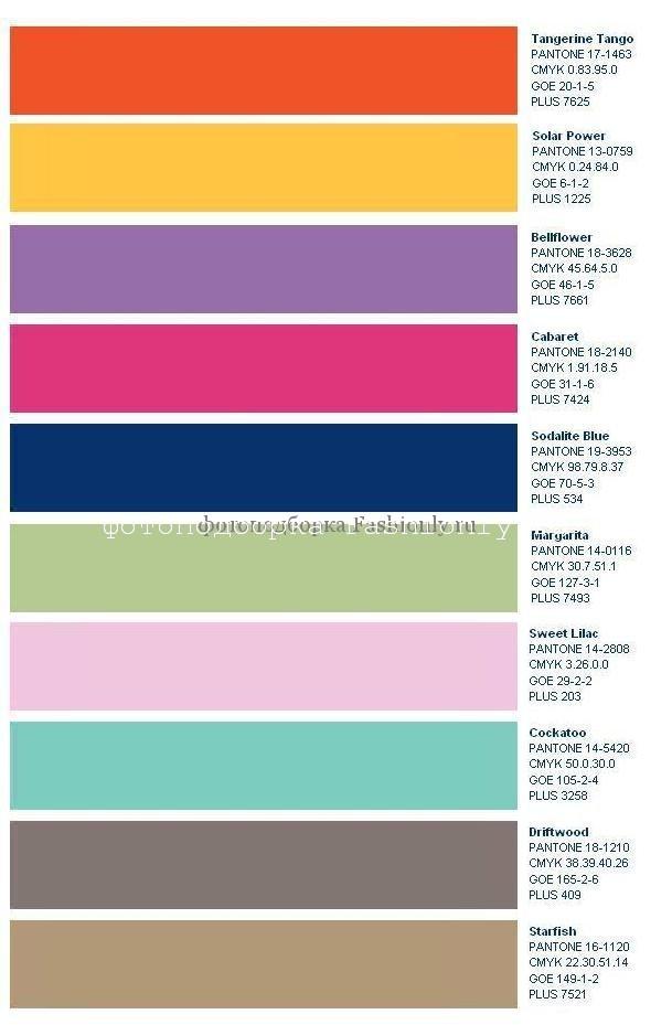 Какие сейчас в моде цвета