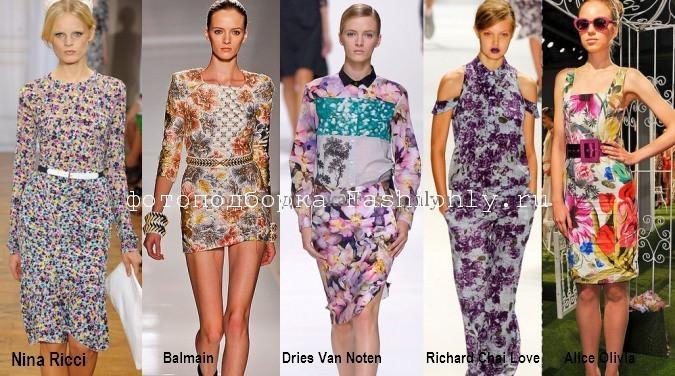 Цветочный принт в одежде 2012