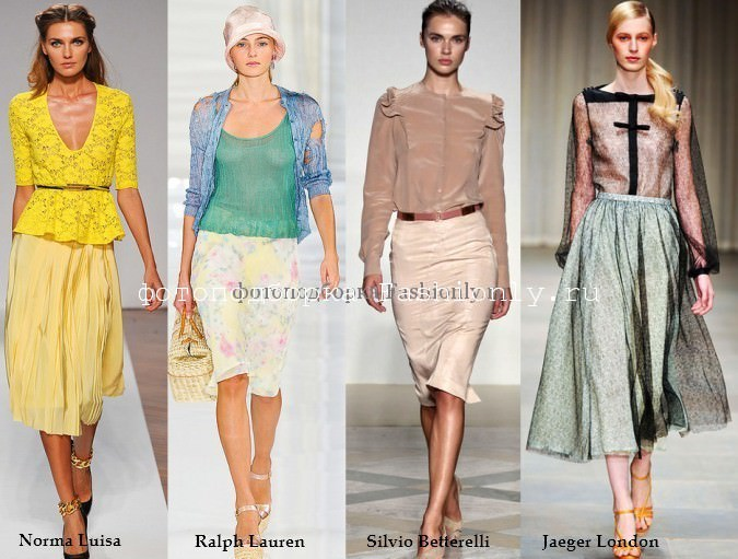 Романтичный стиль одежы - вот что в моде весною 2012 года