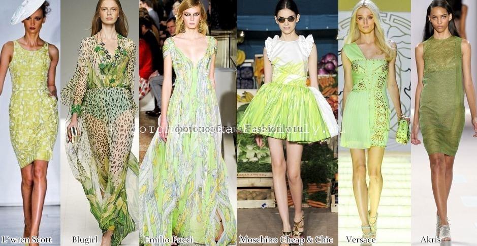 Модные оттенки 2012 года в фото