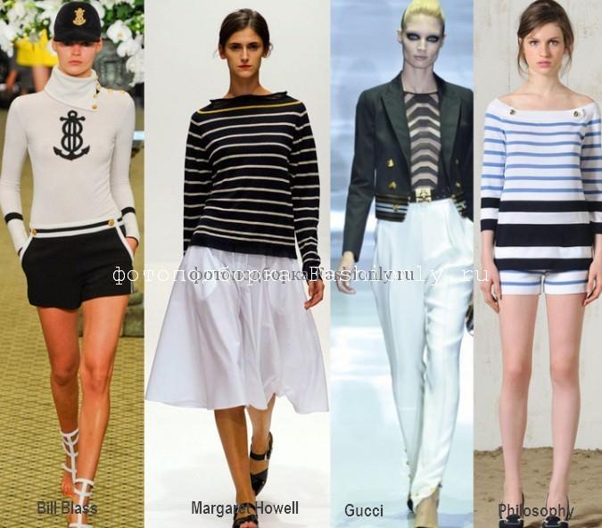 Круизный стиль в одежде весной 2012 года.