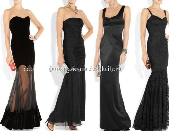 Вечерние новогодние платья 2012