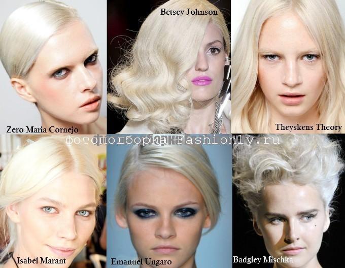 Модный блонд - весна 2012