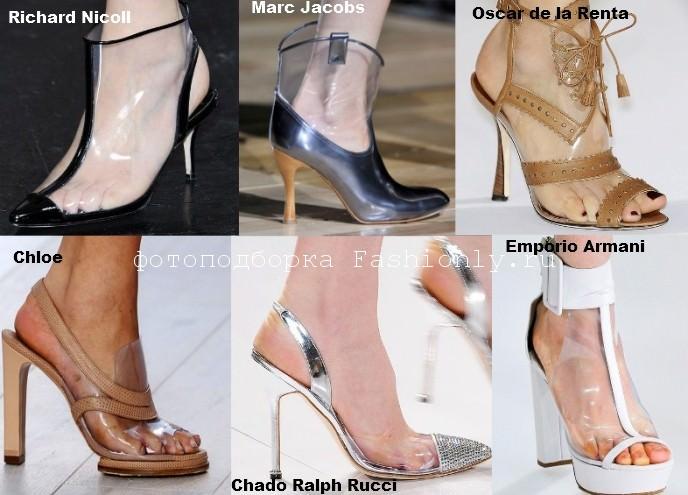 Модная обувь весны 2012 года в прозрачными фрагментами