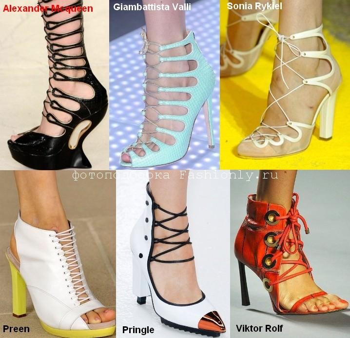 Модная обувь на шнуровке сезона весна 2012 года