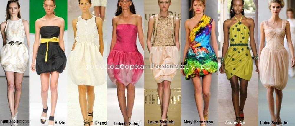 Модные платья весна лето 2012