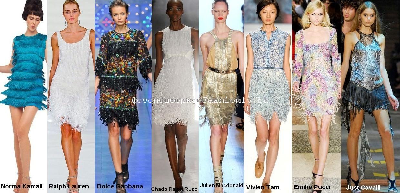 Весенние платья с бахромой - 2012 года