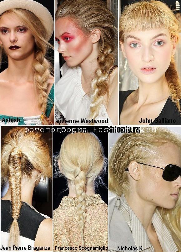 Прически с косами - весна 2012 года