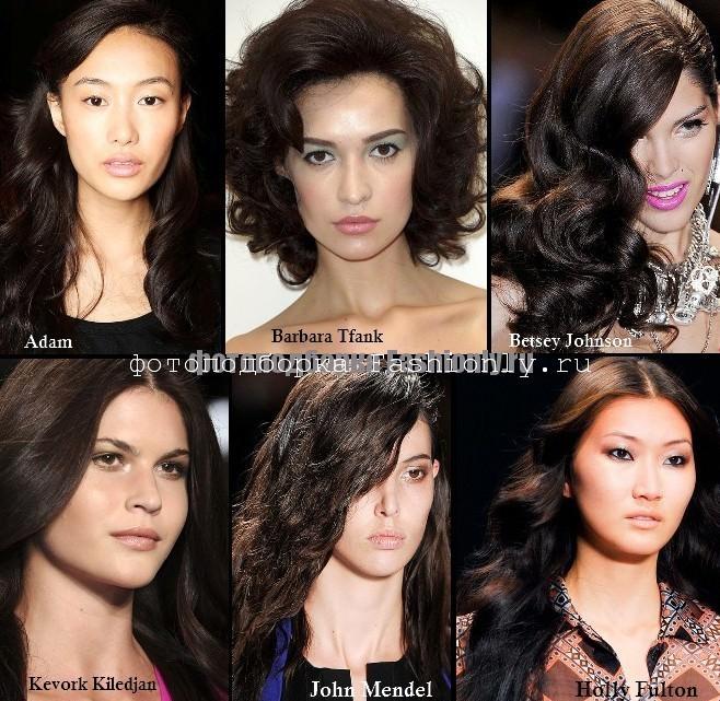 В моде темный цвет волос с искринкой