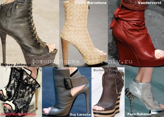 Модная обувь на весну 2012 года