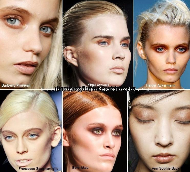 Весенний макияж в коричневых тонах