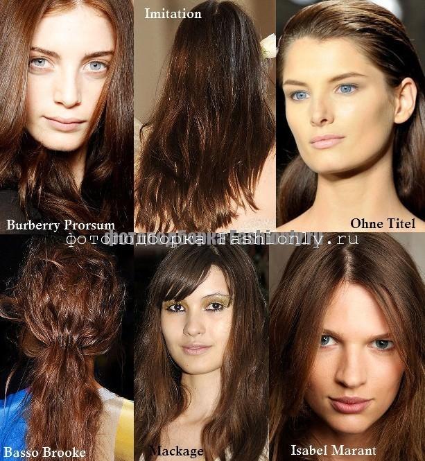 Каштановый цвет волос 2012 - весна лето