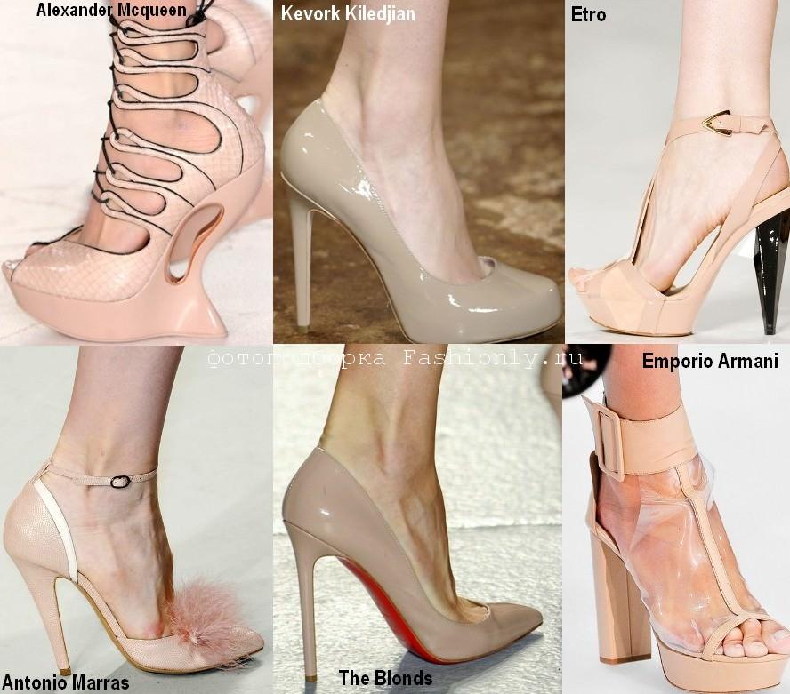Модная обувь весны 2012 в бежевых тонах