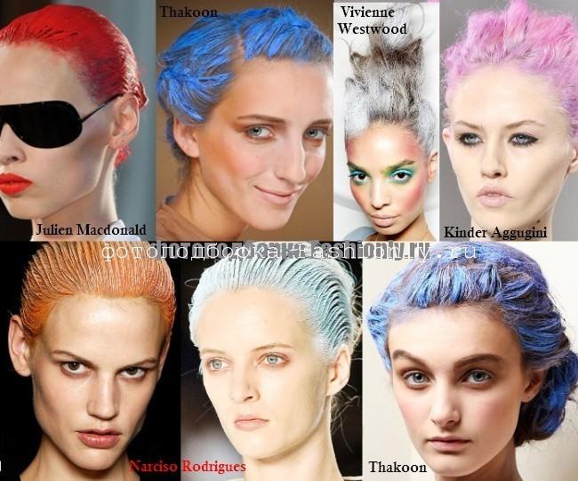 Яркие цвета волос - весна 2012