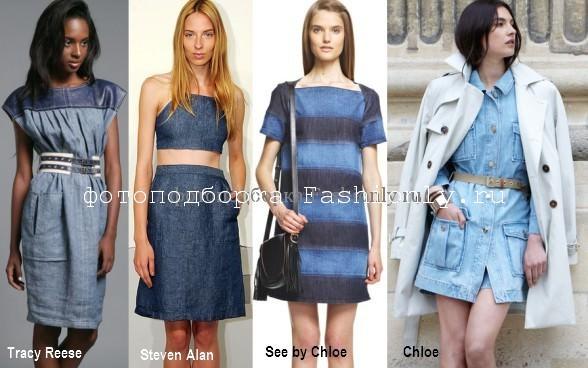 Джинсовые платья весны 2012 года