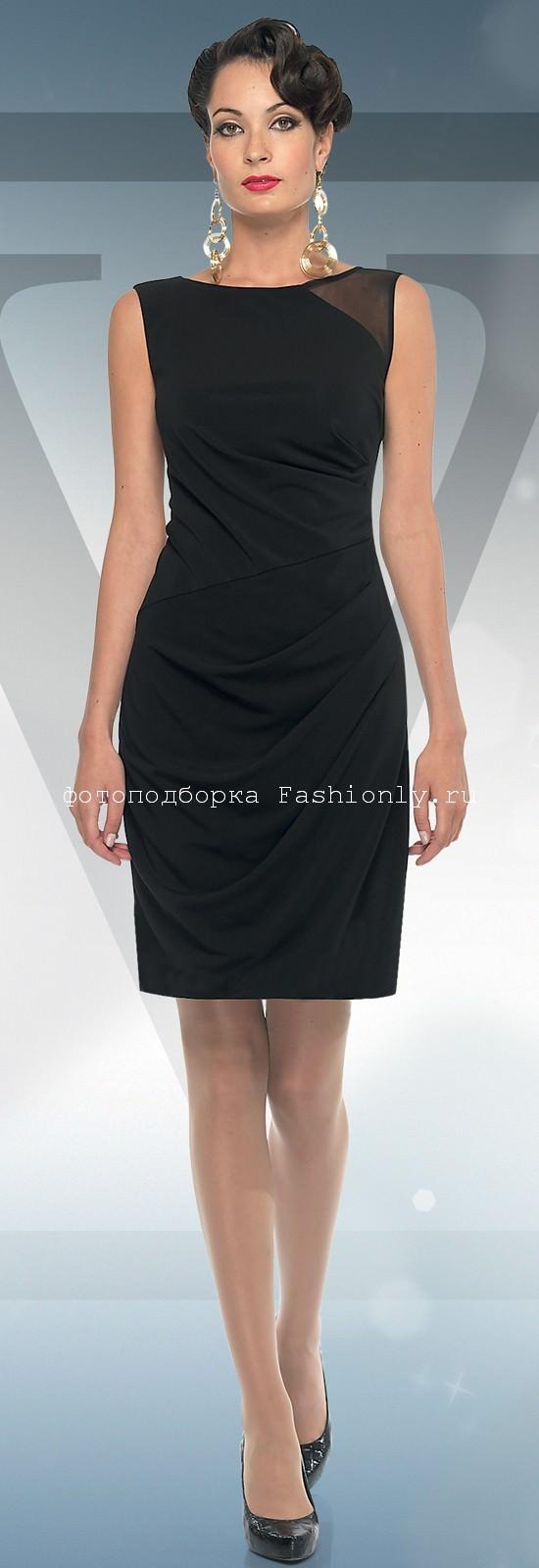 Черное платье на Новый 2012 год