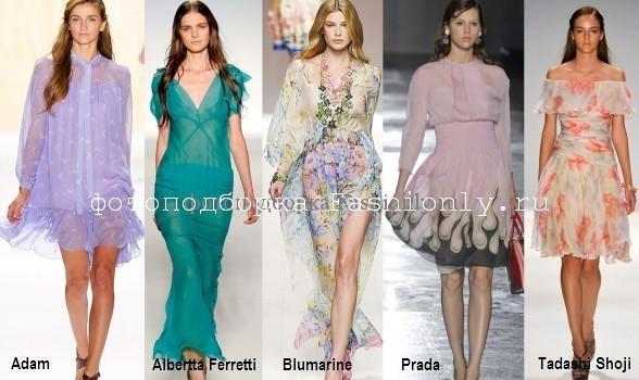 Весенние платья 2012 года