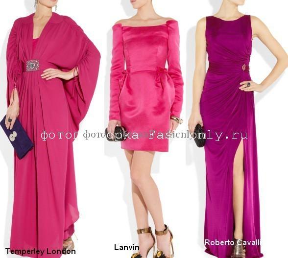 Фото розовых платьев для Нового Года 2012