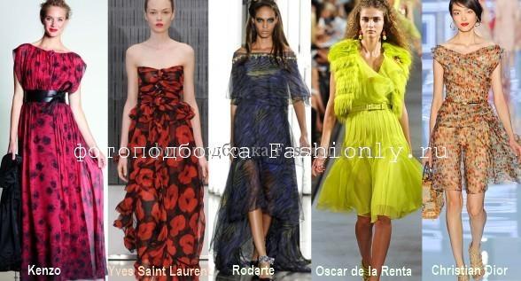 Весенне-летние платья 2012