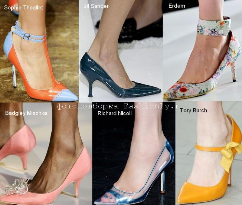 Модная обувь 2012 года с острым носком