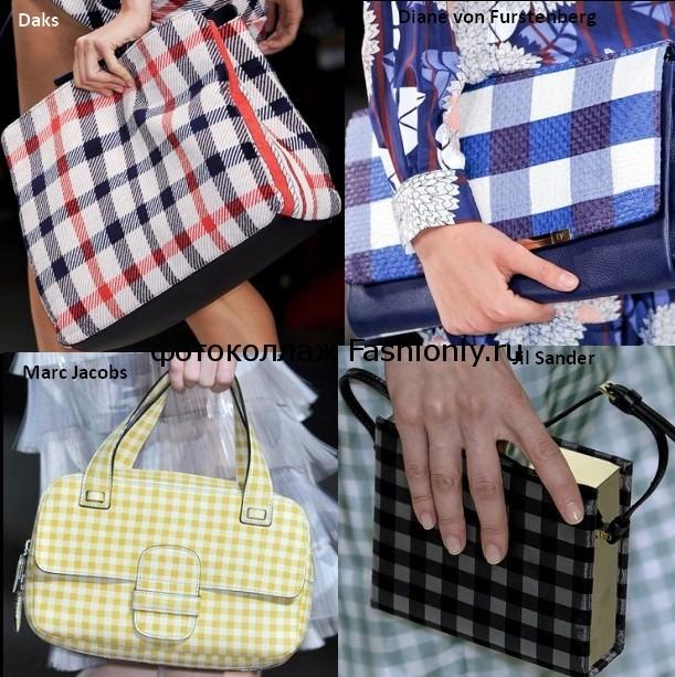 Клетчатые сумки весеннего сезона 2012 года