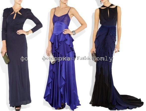 Си ние новогодние платья 2012 года