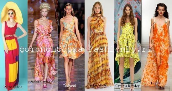 Модные сарафаны – лето 2012
