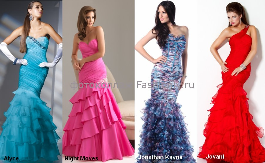 Фото модных платьяев на выпускной