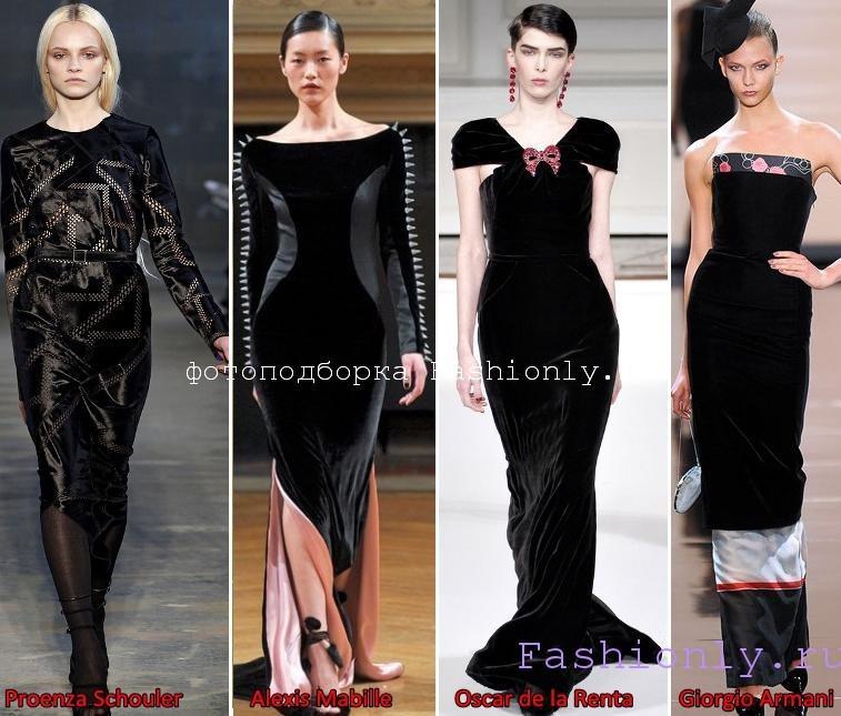 Платья из бархата на Новый год 2012