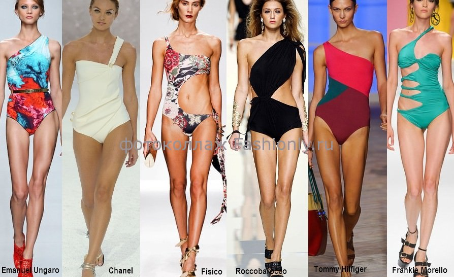 Модные ассиметричные купальники 2012