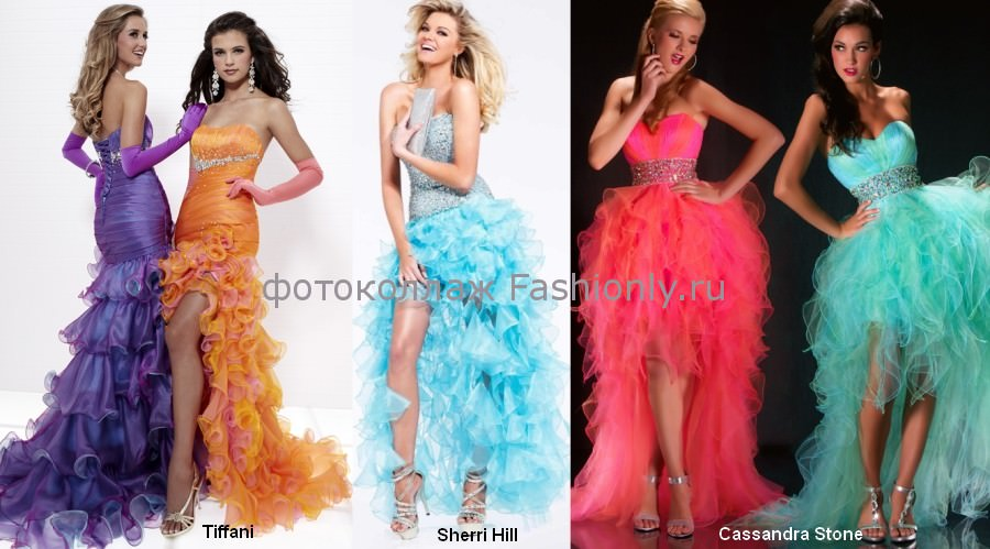 Платья на выпускной 2012 со шлейом