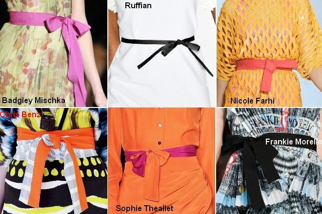Модные ремни из ткани - весна-лето 2012