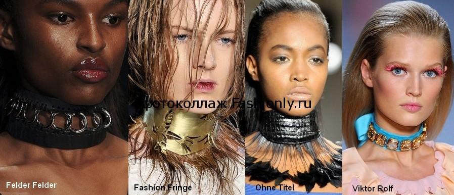 Модные украшения на шею - весна лето 2012 года