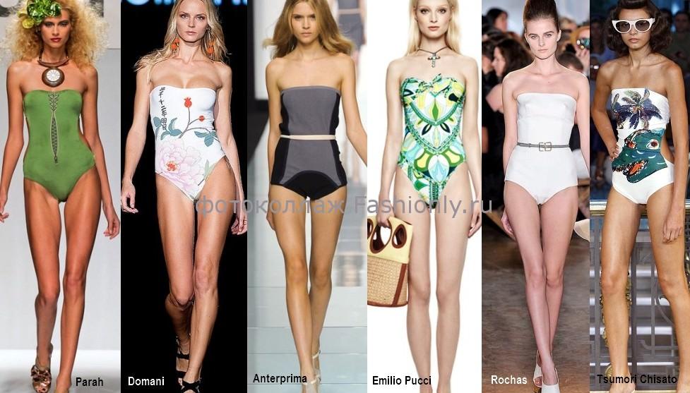 Модные купальники без бретелек 2012 года