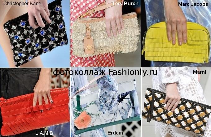 Модные клатчи весна 2012