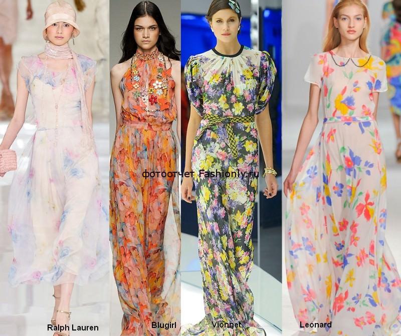 Фото шифоновых платьев весны 2012